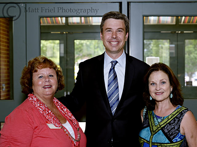 L to R: Connie Gibson (Dream Central) Chattanooga Mayor Andy Berke and Brenda Freeman Short (Dream Central)